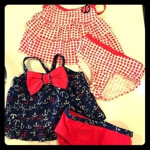 Baby Toddler Girls Bathing Suits 12-18 months